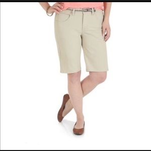 Riders by Lee Tan Mid Rise Bermuda Shorts